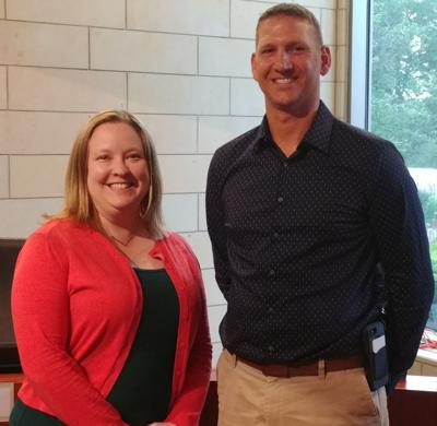 Montgomery Community Relations Manager Corinne Vargas and Montgomery Public Works Director Mark Wolf
