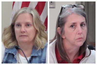 Collage:  Kendall County Clerk Debbie Gillette and County Treasurer Jill Ferko.