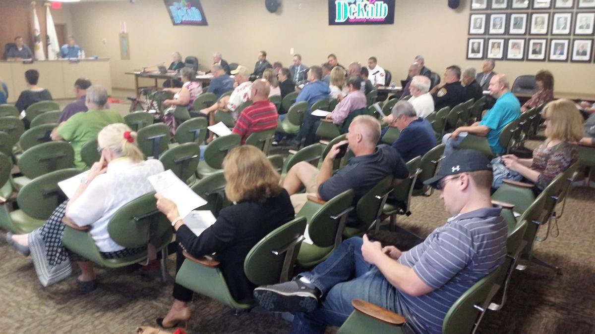 DeKalb Council Crowd for Clerk