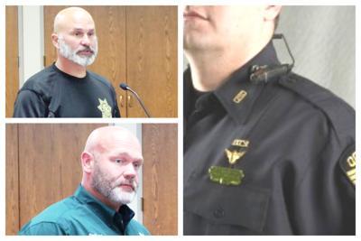Sheriff Dwight Baird, Commander Jason Langston and Police Officer wearing body camera