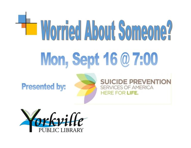 Suicide Prevention Program at the Yorkville Public Library