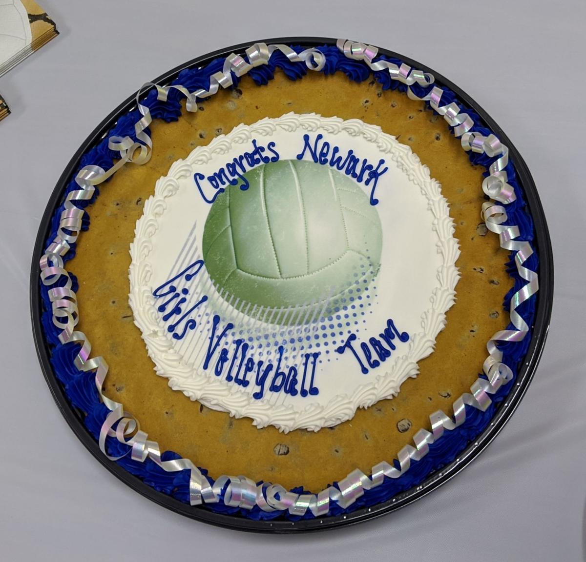 Cookie Cake for Newark Girls Volleyball Team