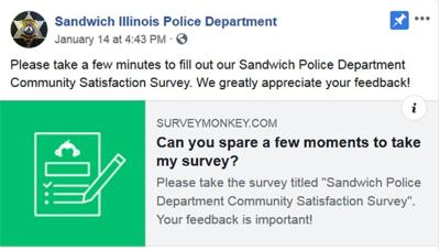 Sandwich Police Dept. Survey