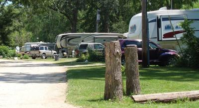 Trailers at Hide-a-Way Lakes Campground