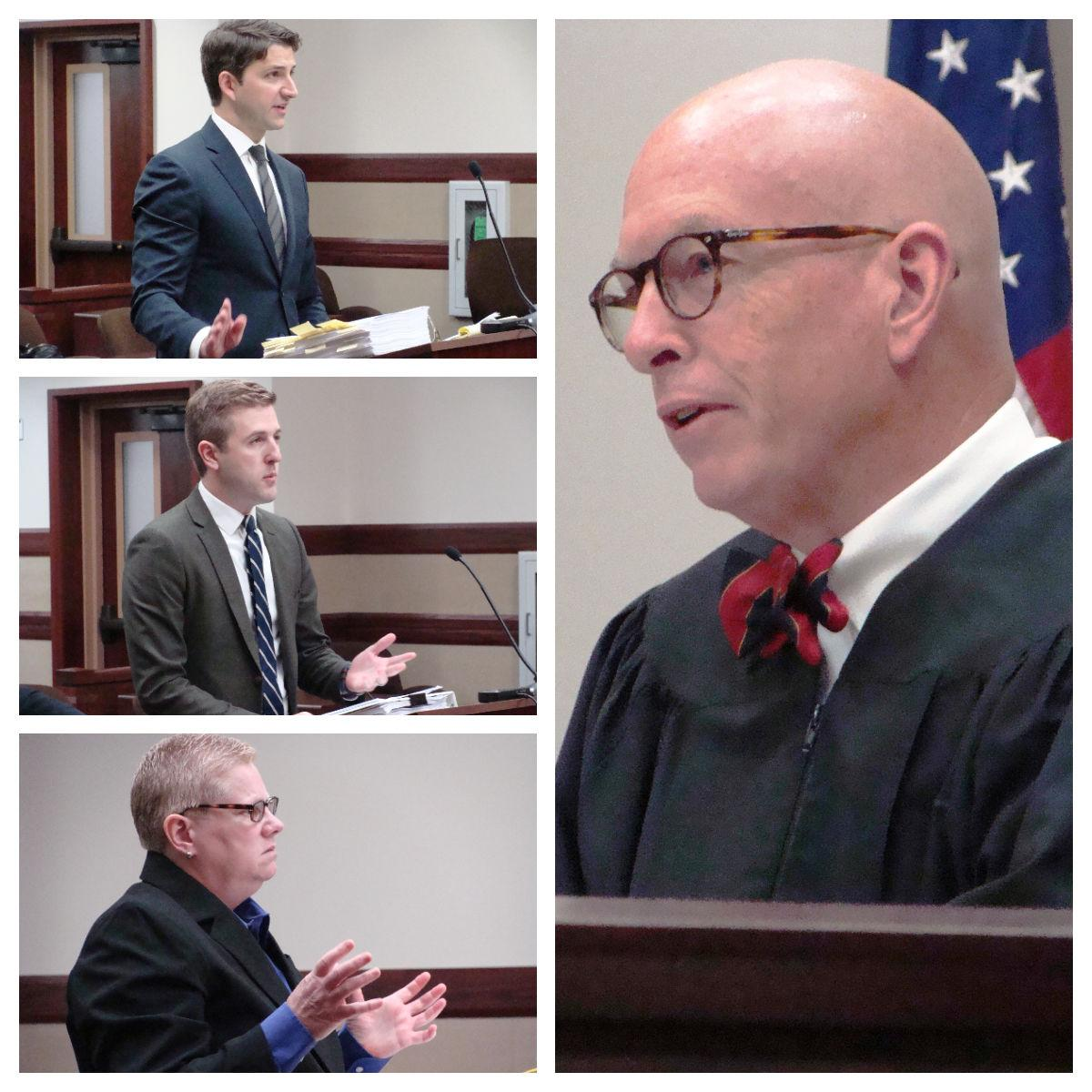 Collage of Hastert Hearing in Kendall Co Court 05 31 2019
