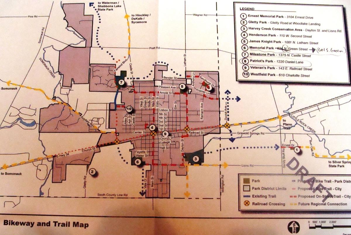 Bike and Train Map Sandwich