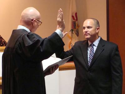 Judge Robert Pilmer and Fourth Ward Alderman Fred Kreinbrink