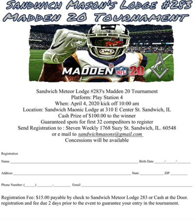 Madden Tournament