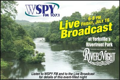 WSPY Broadcasting Live at Yorkville's Riverfront Park Friday, July 16