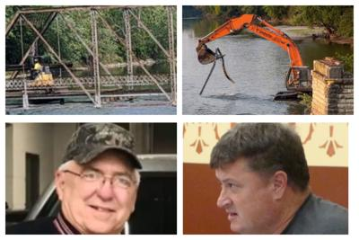 Millbrook Bridge Demolition; Brian Debolt and Matt Kellogg