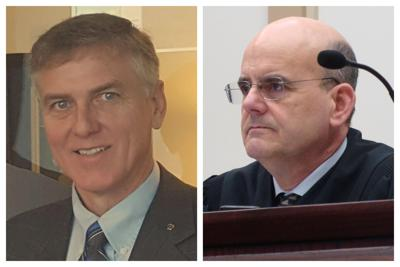 Collage:  James Marter and Judge Stephen Krentz