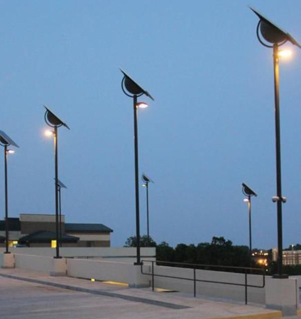 solar light repairs at hoover forest preserve parking lot tabled