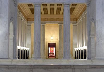 West Virginia Capitol Senate chamber entrance