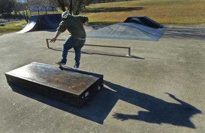 PHOTO: Skateboarding in the sun