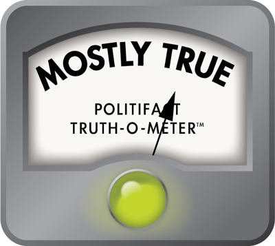 politifact meter mostly true