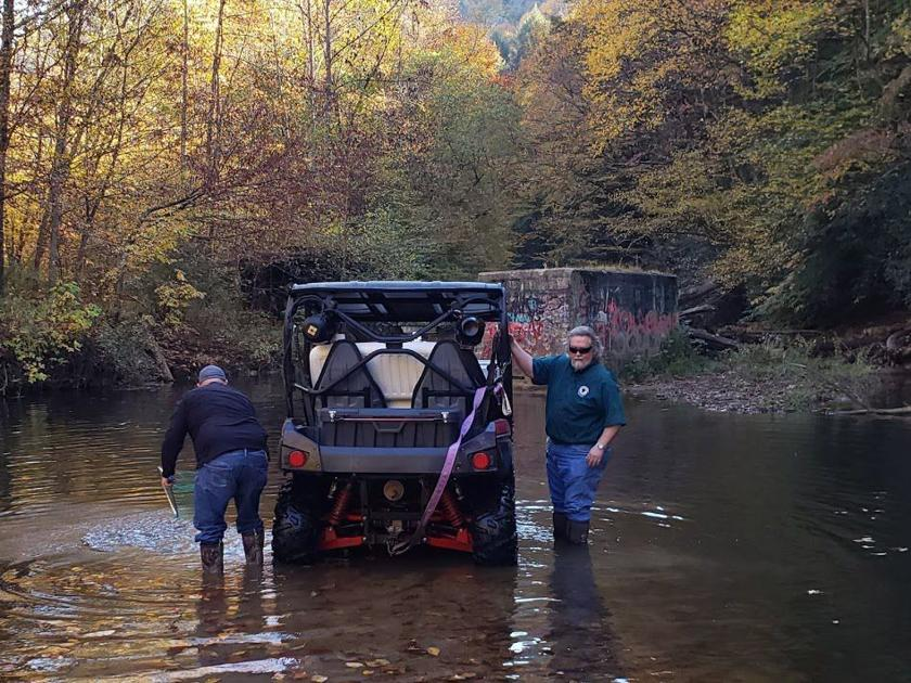 Kanawha Commission stocks 1,000 pounds of trout into Elk River