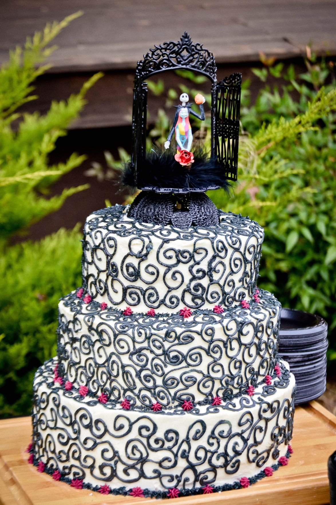"Nightmare Before Christmas"" themed wedding more fun than"