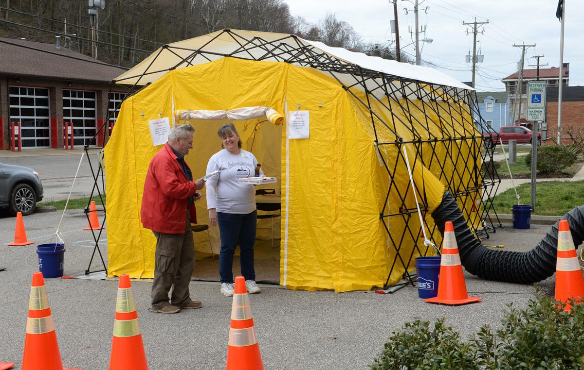screening tent