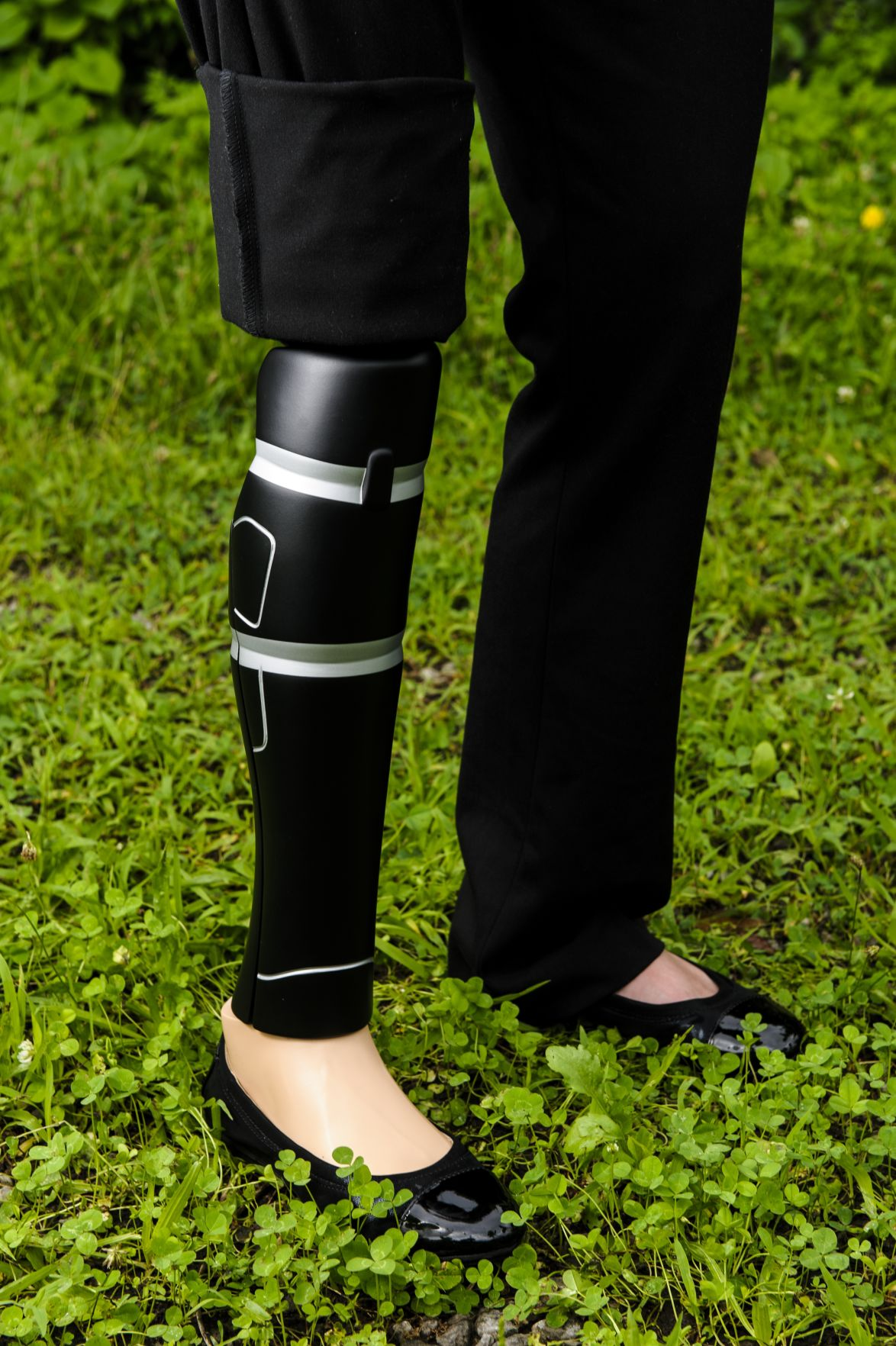 Cross Lanes native to model coverings for prosthetic legs
