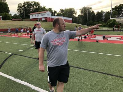 Hurricane football coach Jeremy Taylor