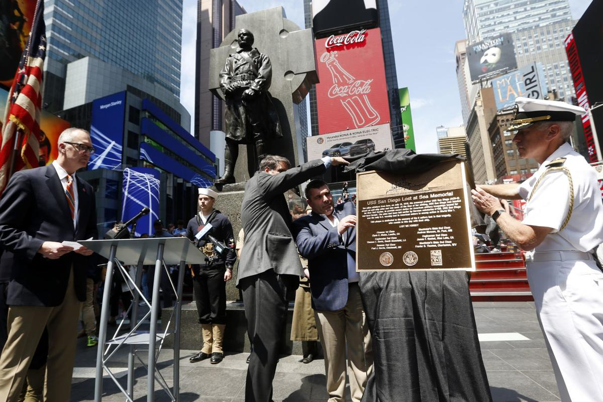 WV sailor among six shipmates memorialized on Times Square monument