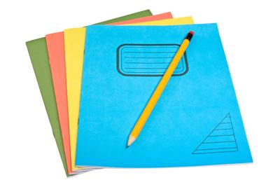 color exercise books