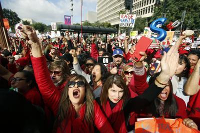 APTOPIX Los Angeles Teachers Strike