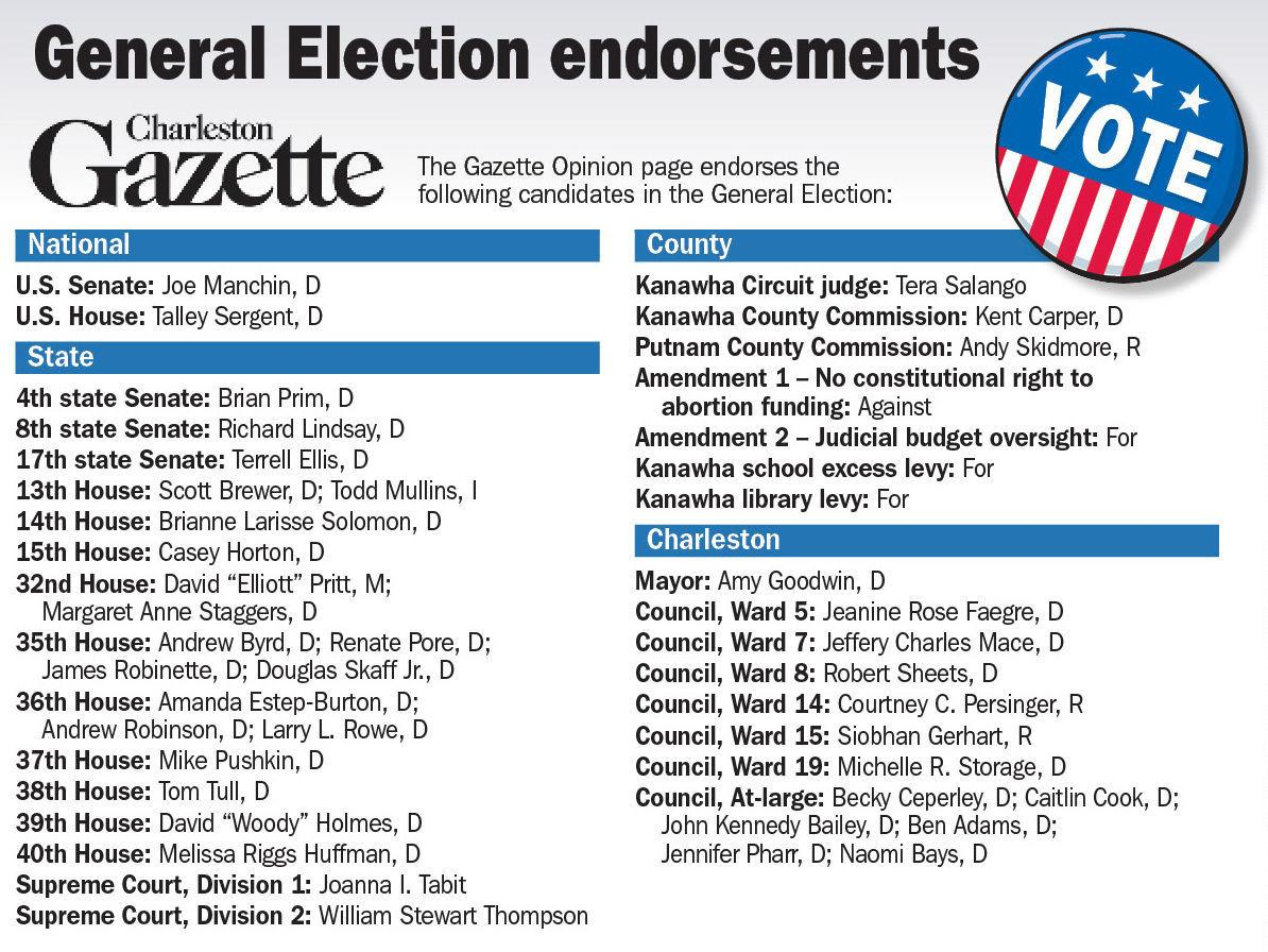 Gazette 2018 candidate endorsements