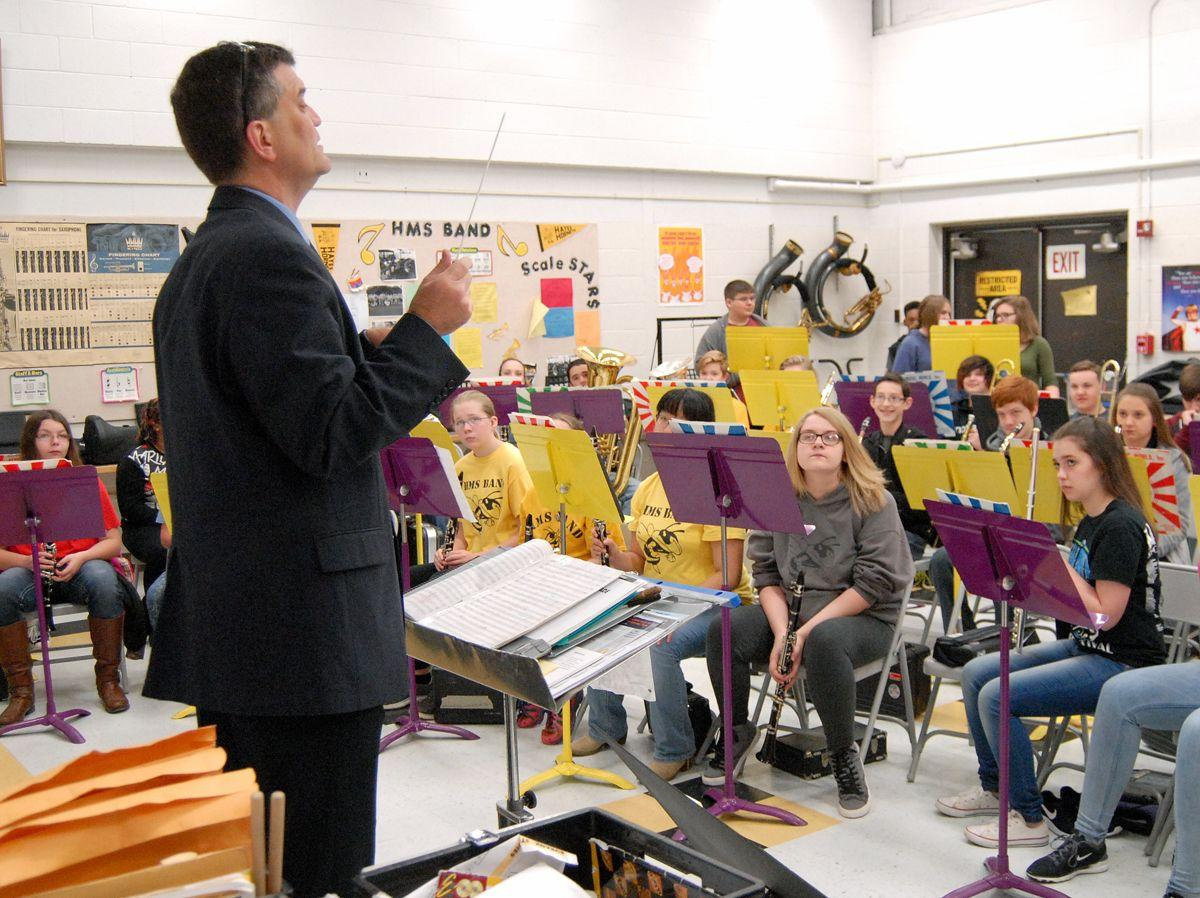 Hayes Middle School band earning high ratings at festivals