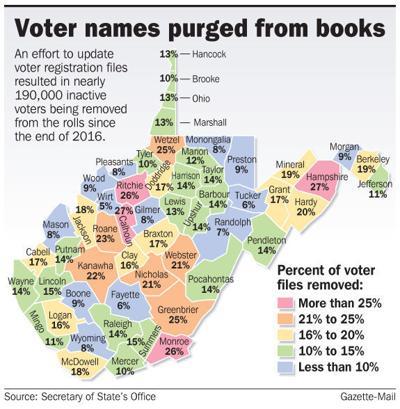 WV voter map