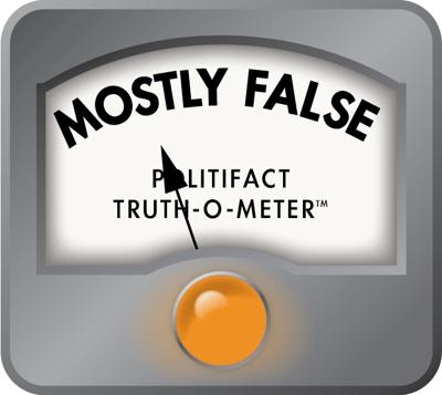 PolitiFact mostly false