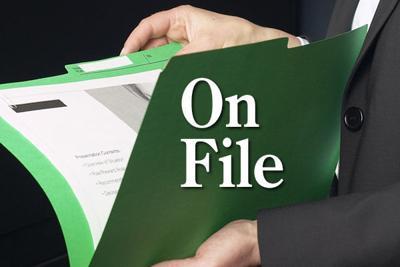 On file