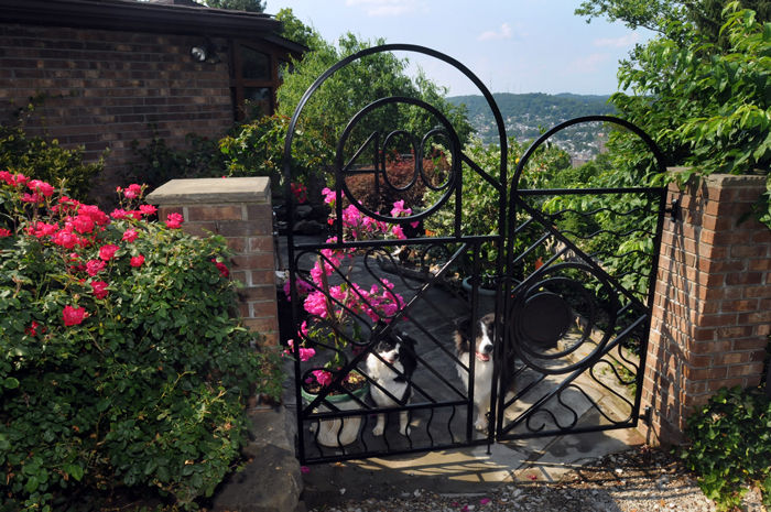 Garden gates open into private spaces