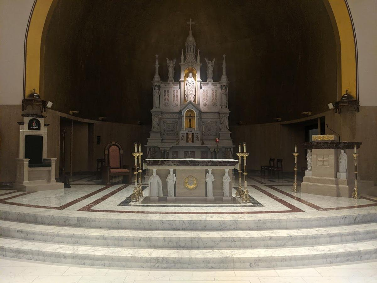 New altar at Basilica of the Co-Cathedral of the Sacred Heart