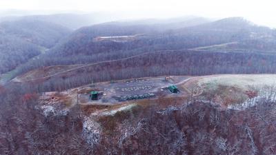 Wellpad aerial photo