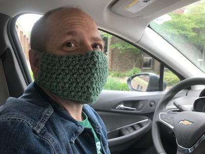 Bill wearing a mask