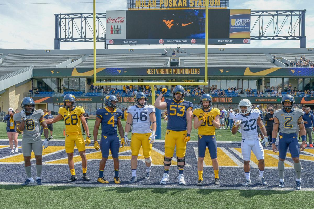Wvu Football Mountaineers Unveil New Uniforms At Gold Blue