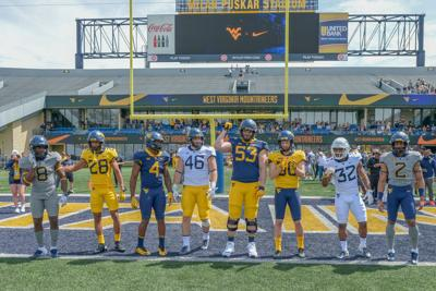 uk availability 33ee4 02edc WVU football: Mountaineers unveil new uniforms at Gold-Blue ...