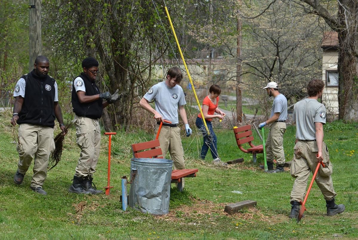 Americorps volunteers help restore Morris Creek Watershed