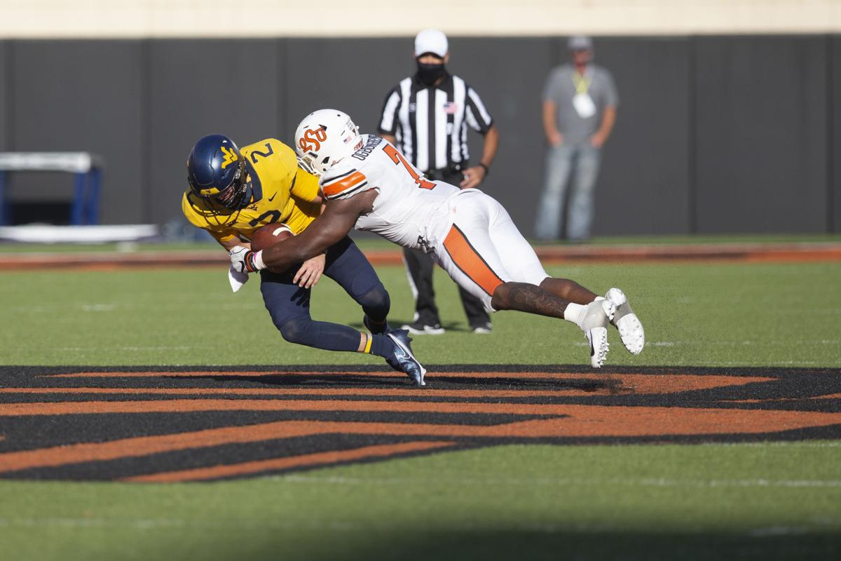 Oklahoma State Cowboys vs West Virginia Mountaineers Football Game, Saturday, September 26, 2020, Boone Pickens Stadium, Stillwater, OK. Bruce Waterfield/OSU Athletics