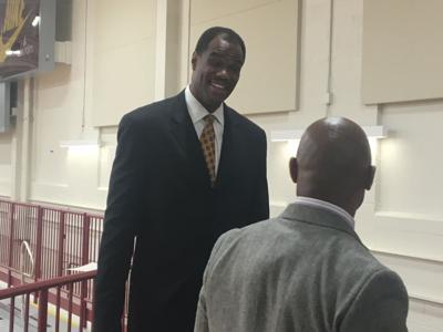 NBA legend David Robinson visits Charleston