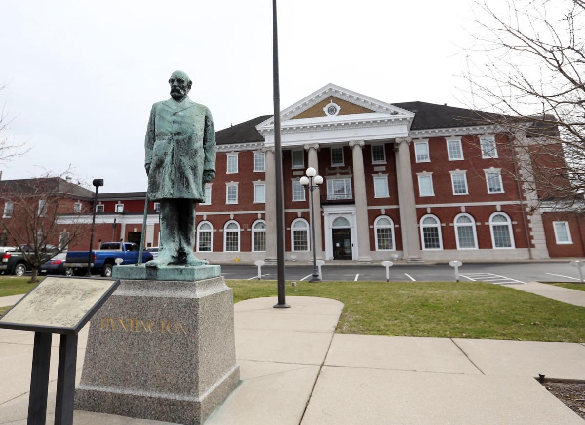 CP Huntington statue