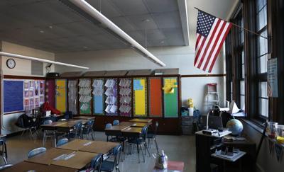 empty classroom school teachers