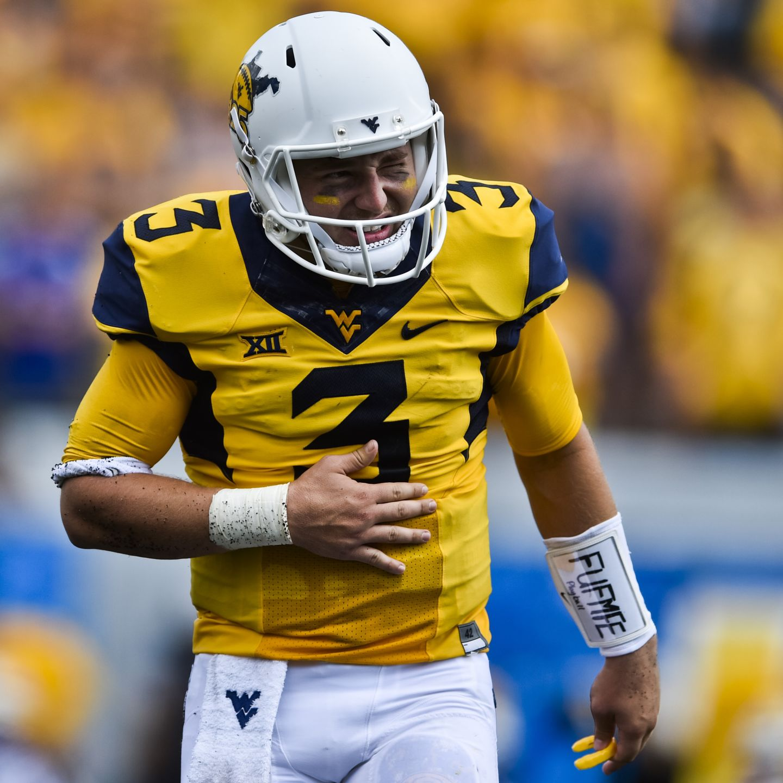 Adam Pankey West Virginia Mountaineers Football Jersey - Yellow