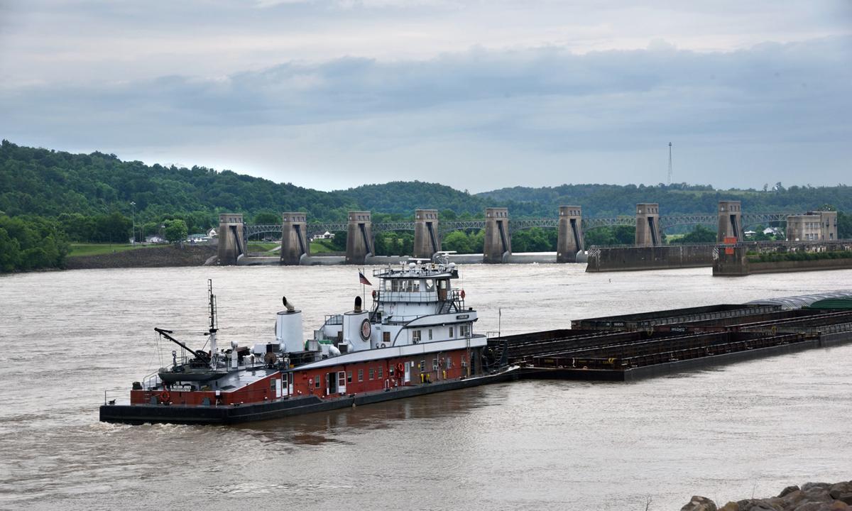 barge at locks