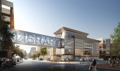 Artists rendering of new Kanawha County library