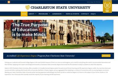 Charleston State University offers phony degrees, steals UC's history