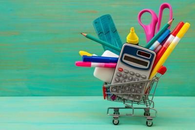 Buying school supplies