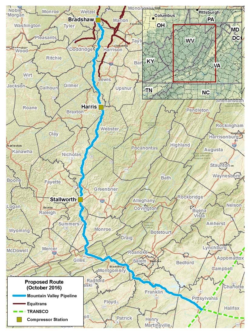 WV DEP vacates permit for Mountain Valley Pipeline