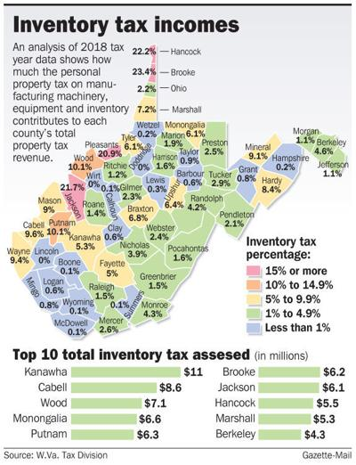 WV inventory tax map